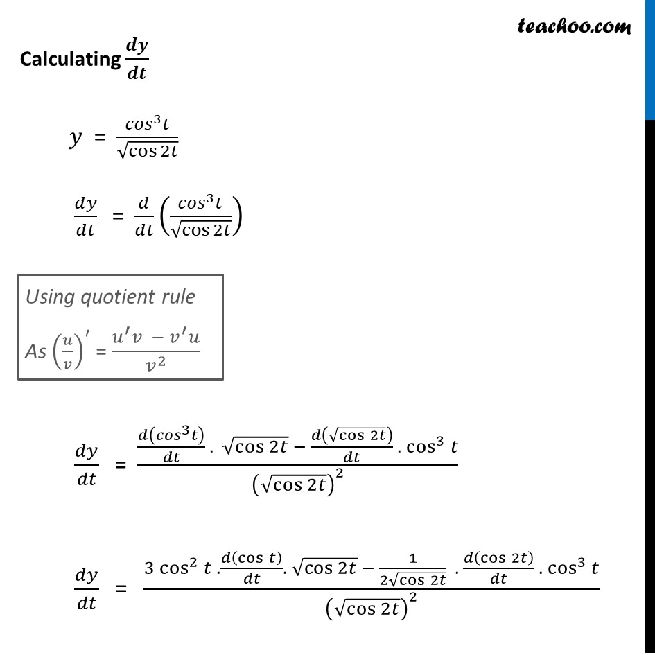 Ex 5.6, 7 - Chapter 5 Class 12 Continuity and Differentiability - Part 2