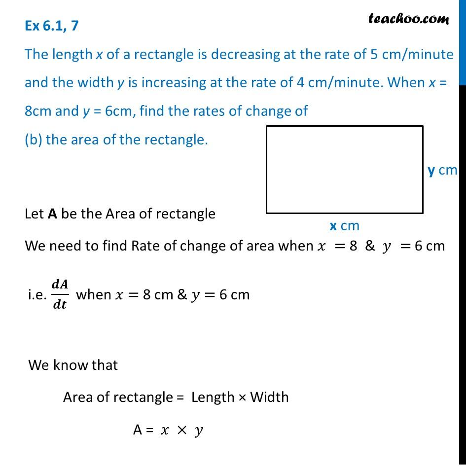 Ex 6.1,7 - Chapter 6 Class 12 Application of Derivatives - Part 4