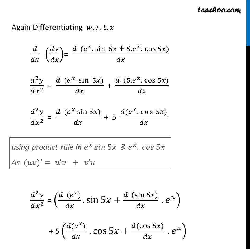 Ex 5.7, 6 - Chapter 5 Class 12 Continuity and Differentiability - Part 2