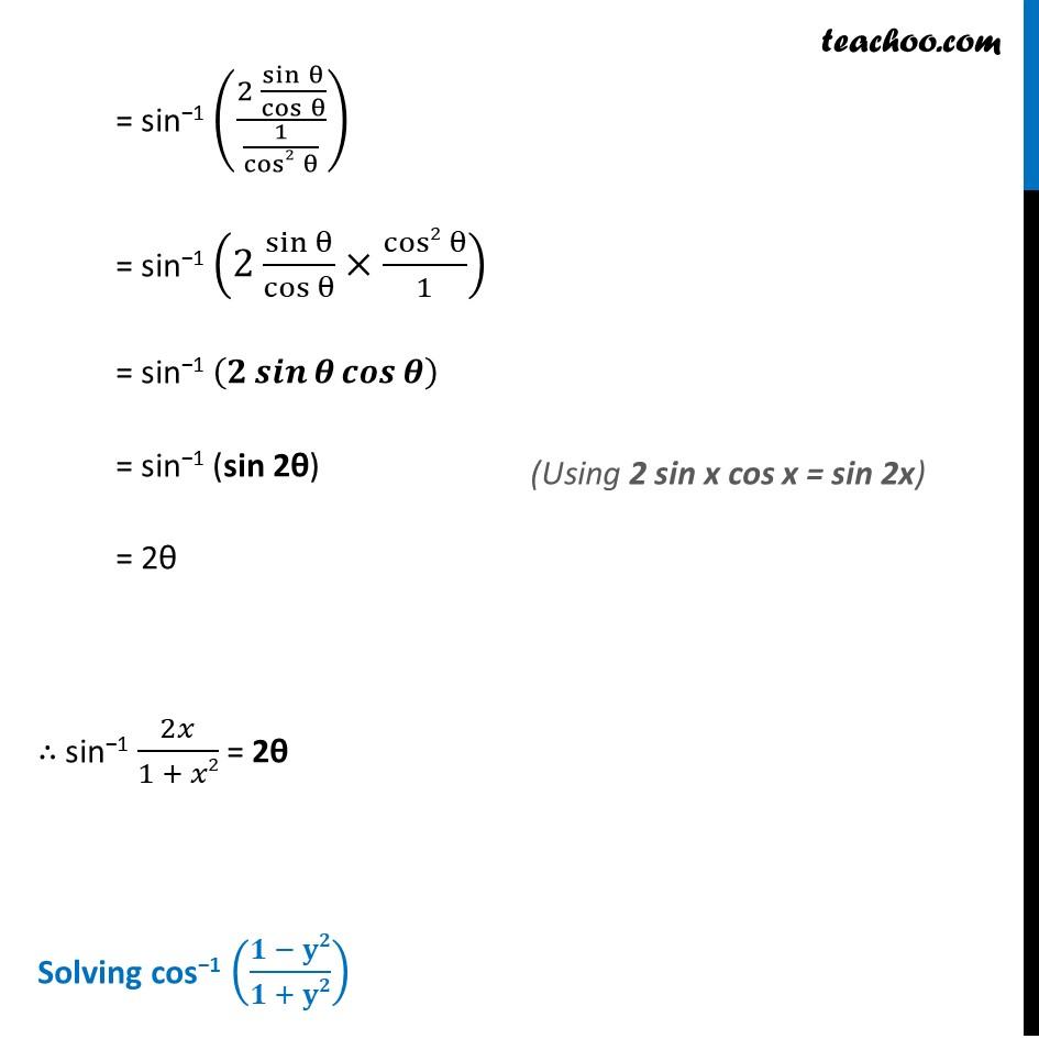 Ex 2.2, 13 - Chapter 2 Class 12 Inverse Trigonometric Functions - Part 2