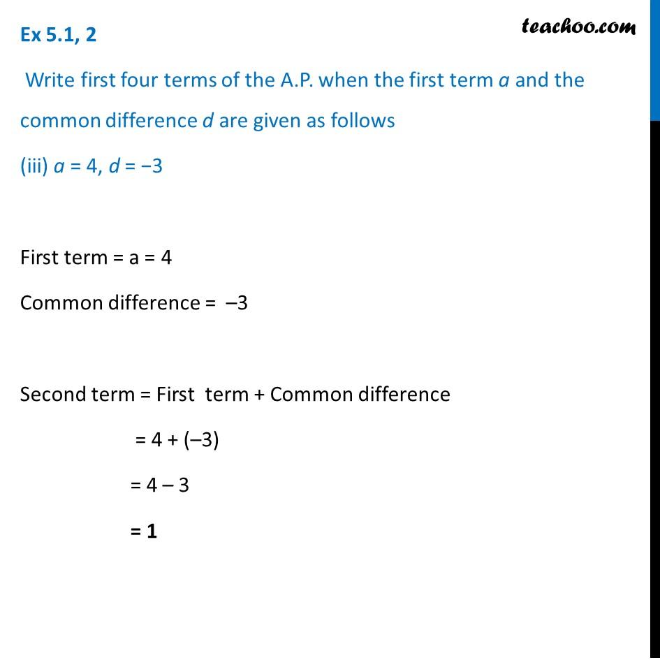 Ex 5.1, 2 - Chapter 5 Class 10 Arithmetic Progressions - Part 5