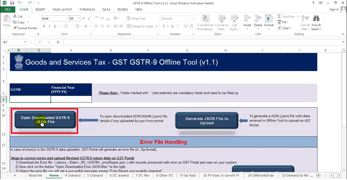 23. Click Open Downloaded GSTR -9 JSON File.jpg