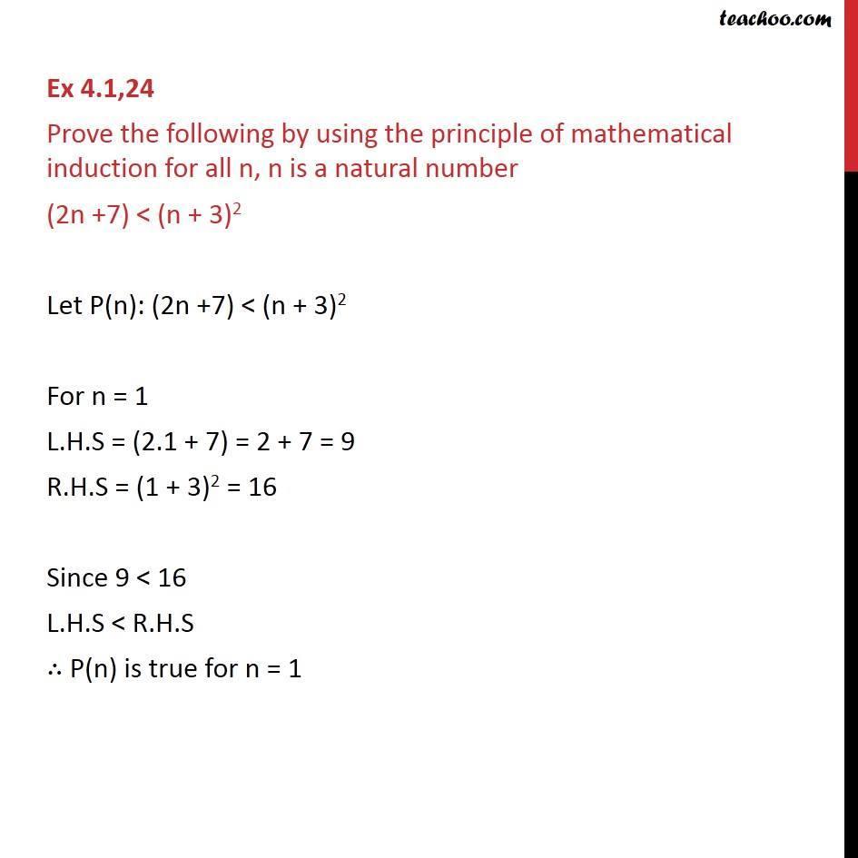 Ex 4.1, 24 - Chapter 4 Class 11 Mathematical Induction - Part 2