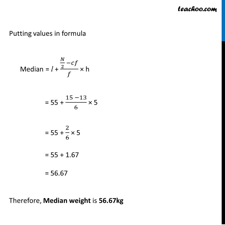 Ex 14.3, 7 - Chapter 14 Class 10 Statistics - Part 3