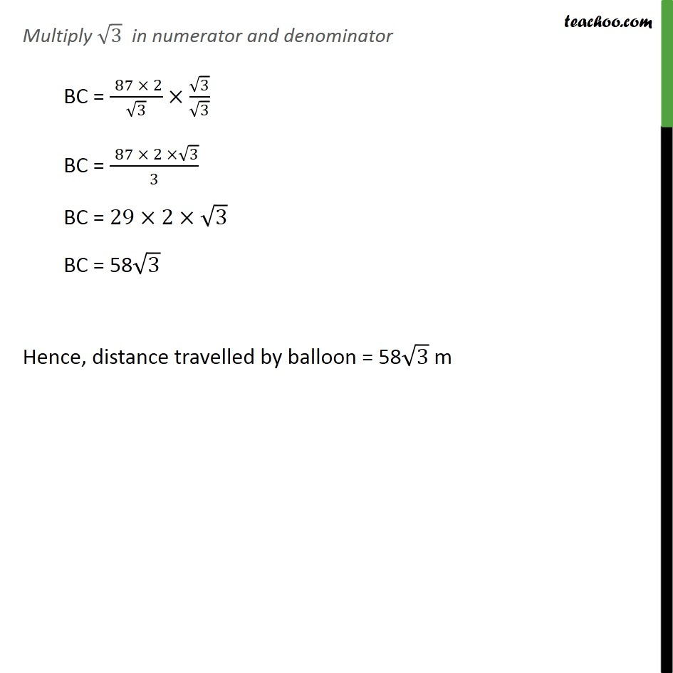 Ex 9.1, 14 - Chapter 9 Class 10 Some Applications of Trigonometry - Part 6