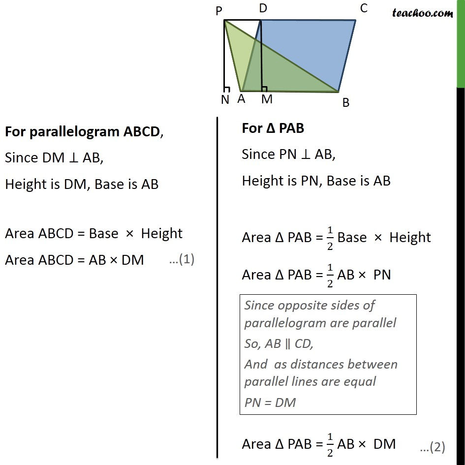 Example 2 - Chapter 9 Class 9 Areas of Parallelograms and Triangles - Part 2