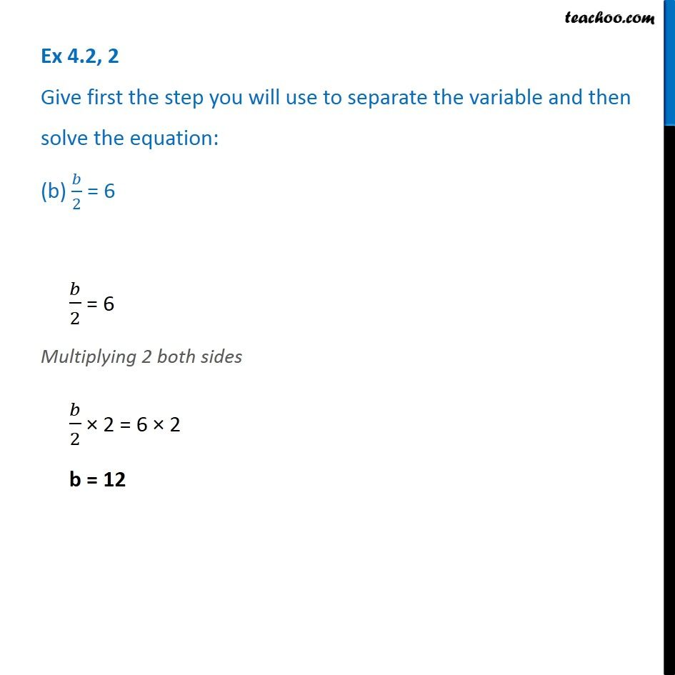 Ex 4.2, 2 - Chapter 4 Class 7 Simple Equations - Part 2