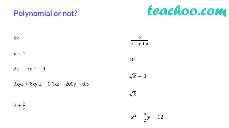Polynomials - Part 11