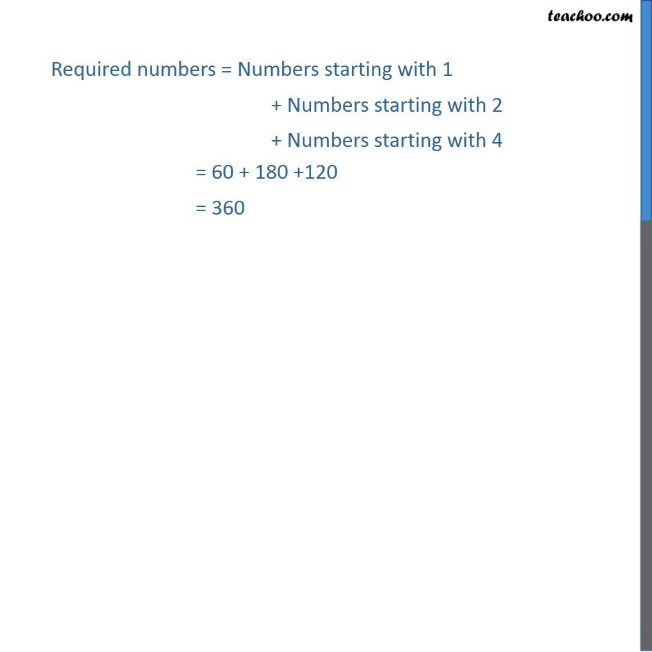 Example 23 - How many numbers greater than 1000000 can be formed