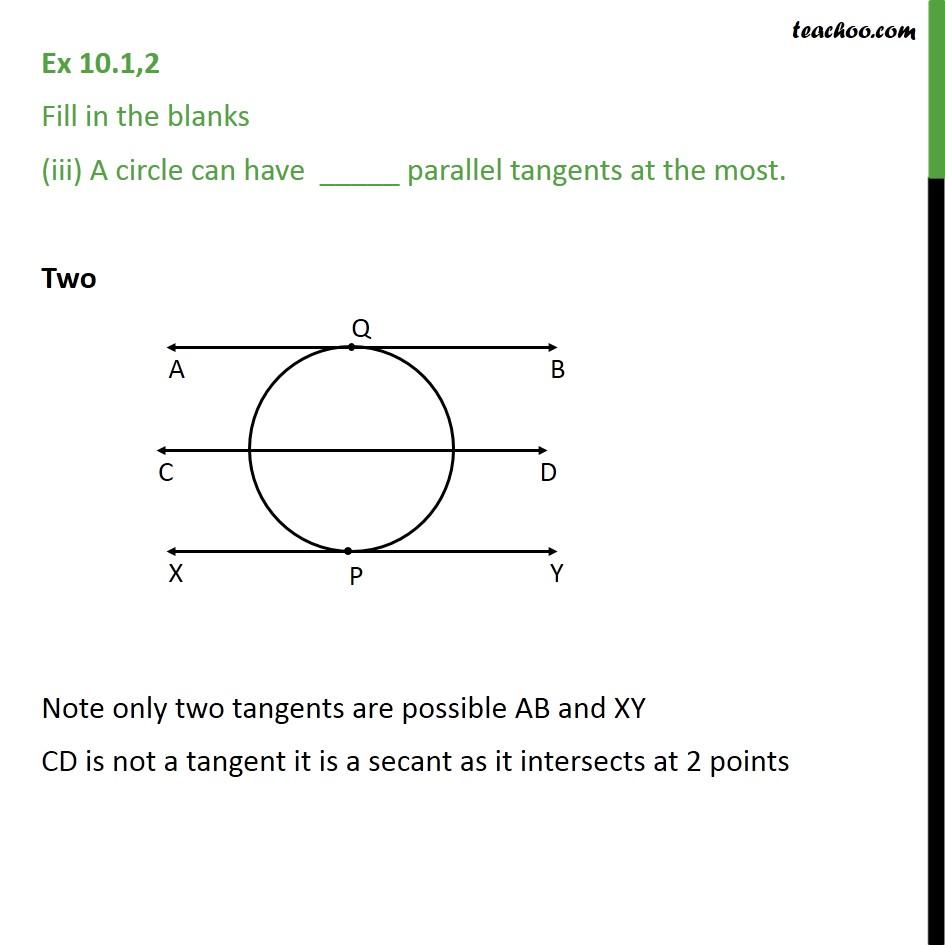 Ex 10.1, 2 - Chapter 10 Class 10 Circles - Part 3