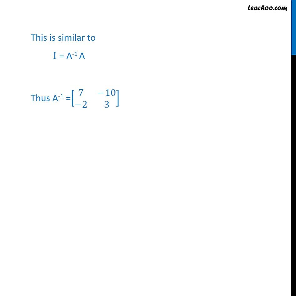 Ex 3.4, 9 - Chapter 3 Class 12 Matrices - Part 3