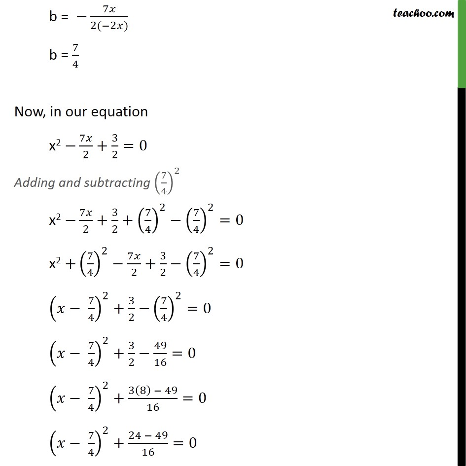 Ex 4.3, 1 (i) - Chapter 4 Class 10 Quadratic Equations - Part 2