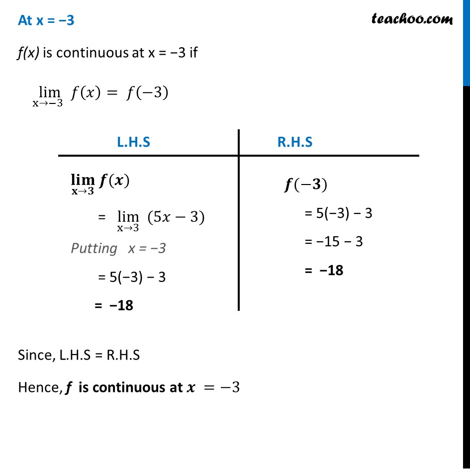 Ex 5.1 ,1 - Chapter 5 Class 12 Continuity and Differentiability - Part 3