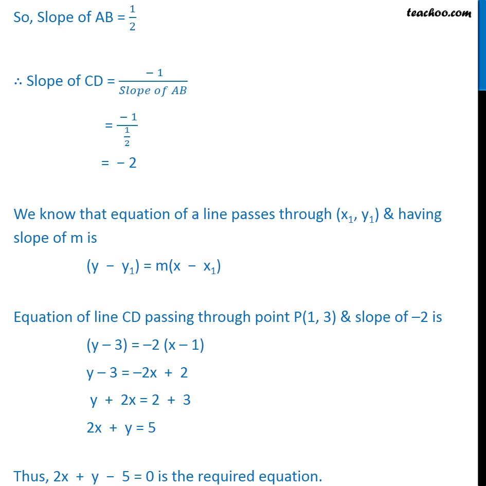 Ex 10.3, 13 - Chapter 10 Class 11 Straight Lines - Part 3