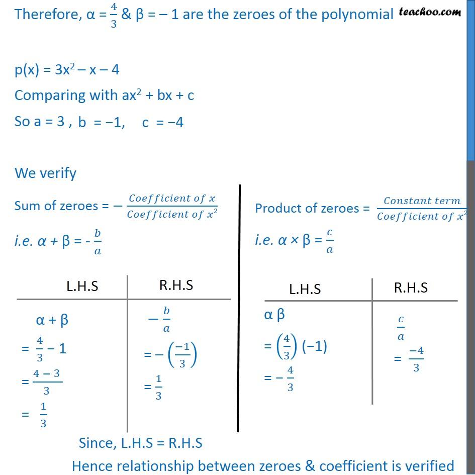 Ex 2.2, 1 - Chapter 2 Class 10 Polynomials - Part 12