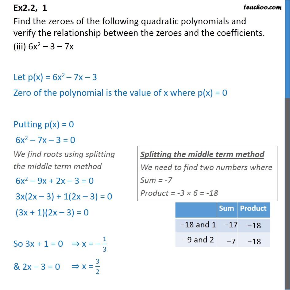 Ex 2.2, 1 - Chapter 2 Class 10 Polynomials - Part 5