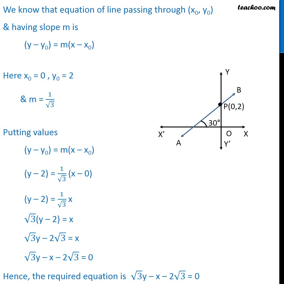 Ex 10.2, 6 - Chapter 10 Class 11 Straight Lines - Part 2