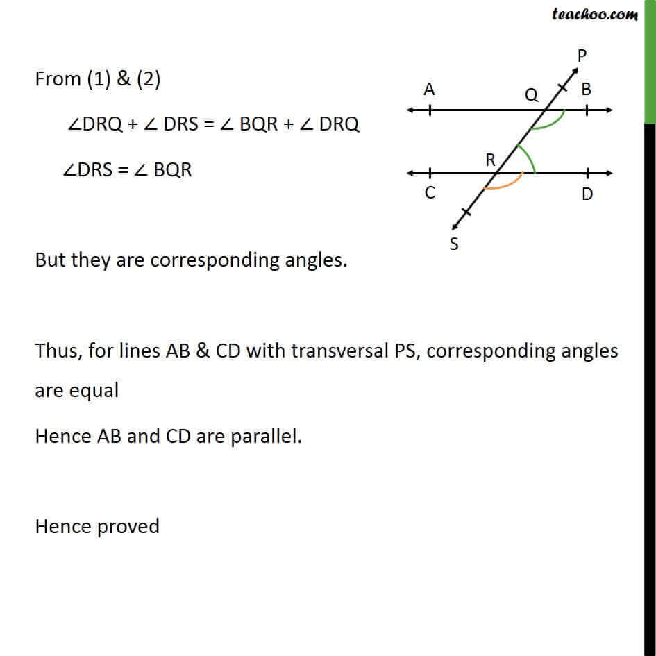 Theorem 6.5 - Chapter 6 Class 9 Lines and Angles - Part 2