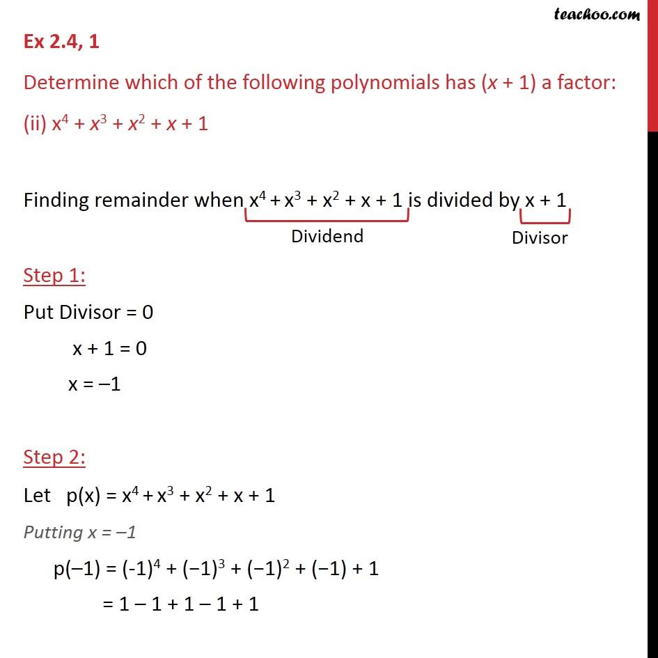 Ex 2.4,1 - Chapter 2 Class 9 Polynomials - Part 3