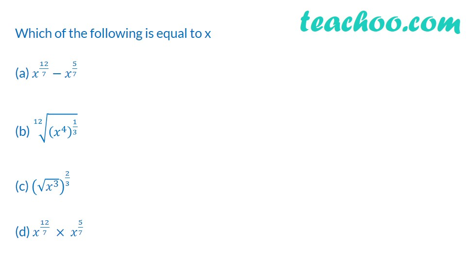 Practice Questions on Laws of Exponents - Part 6