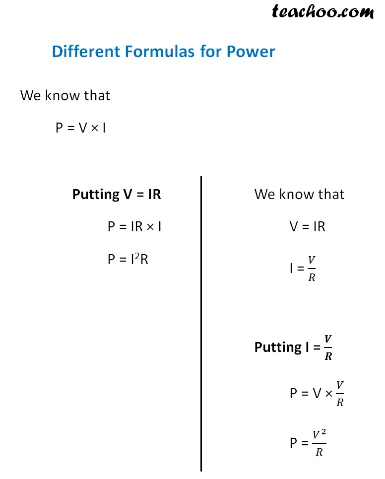 Different formulas for Power - Teachoo.jpg