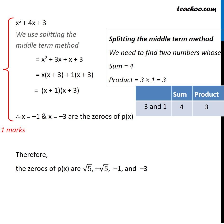 Question 30 - CBSE Class 10 Sample Paper for 2020 Boards - Maths Standard - Part 3