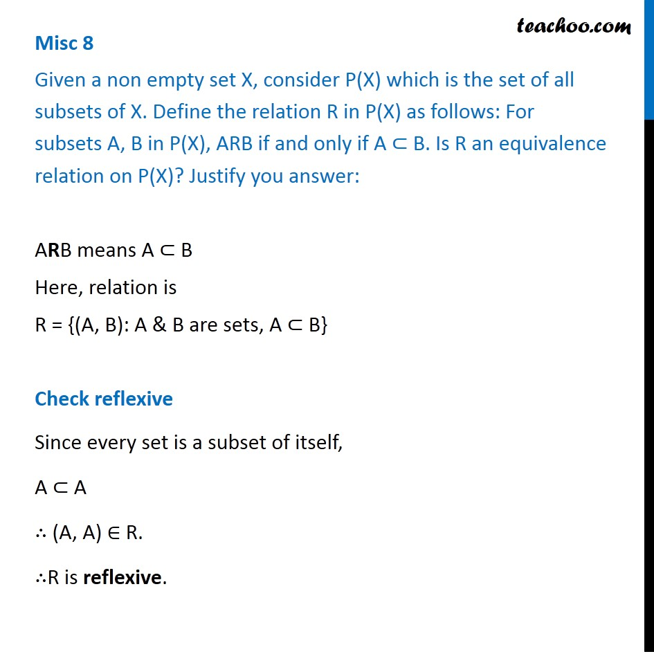 Misc. 8 - Chapter 1 Class 12 Relation and Functions - Part 2