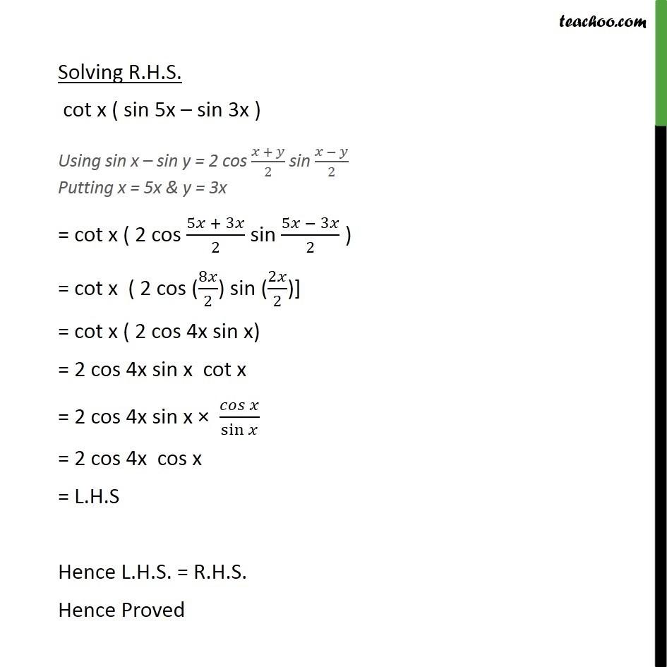 Ex 3.3, 15 - Chapter 3 Class 11 Trigonometric Functions - Part 2