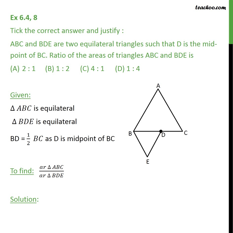 Ex 6.4, 8 - Chapter 6 Class 10 Triangles - Part 2