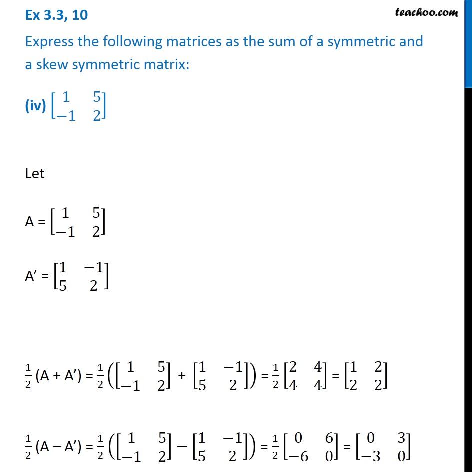 Ex 3.3, 10 - Chapter 3 Class 12 Matrices - Part 10