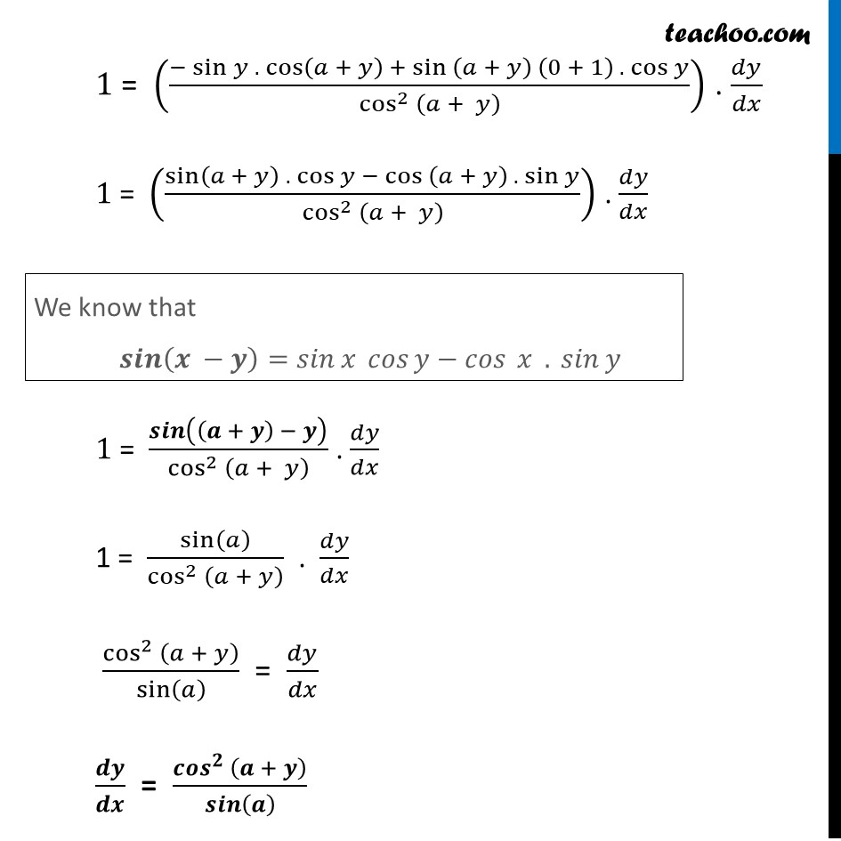 Misc  16 - Chapter 5 Class 12 Continuity and Differentiability - Part 3