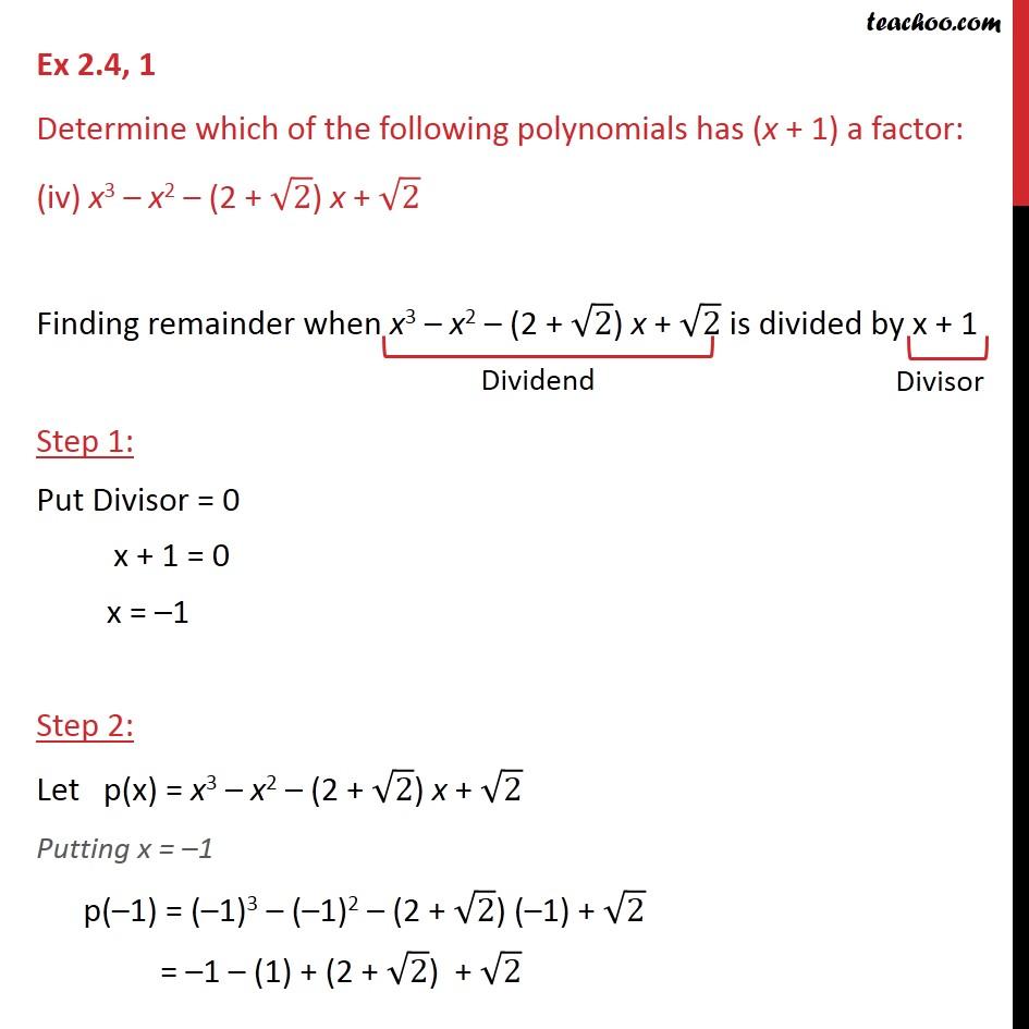 Ex 2.4,1 - Chapter 2 Class 9 Polynomials - Part 7