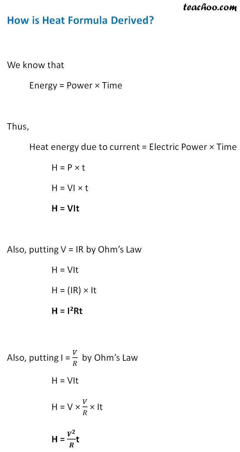 How is heat formula Derived - Teachoo.jpg