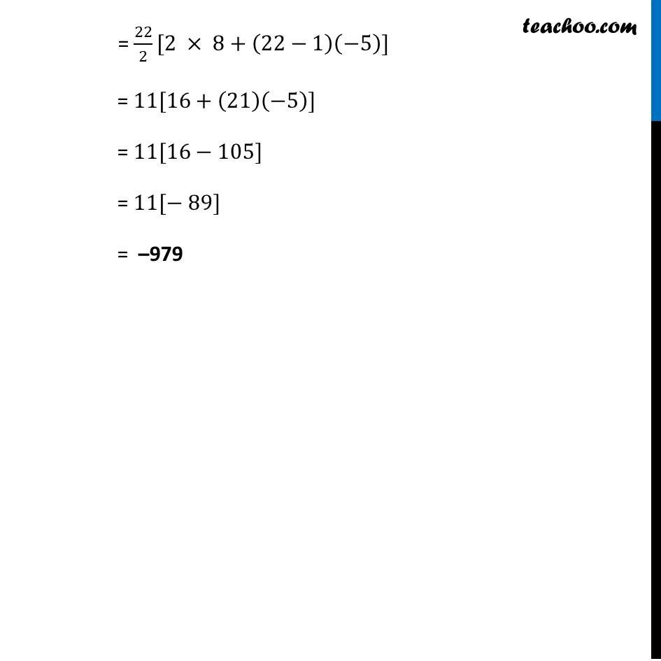 Example 11 - Chapter 5 Class 10 Arithmetic Progressions - Part 2