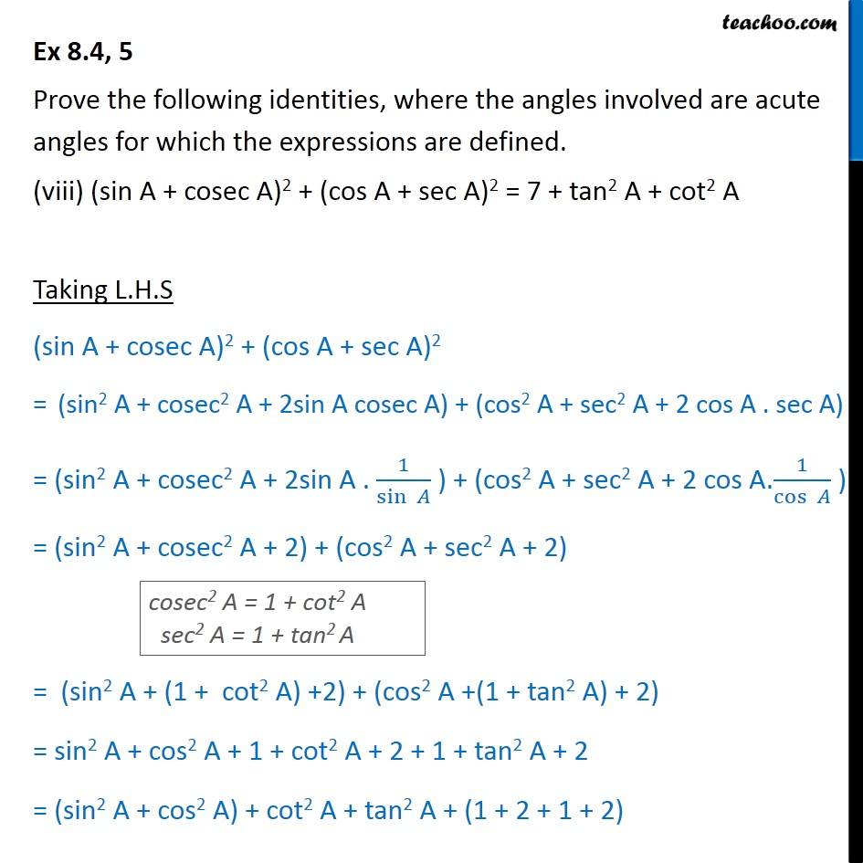 Ex 8.4, 5 - Chapter 8 Class 10 Introduction to Trignometry - Part 16