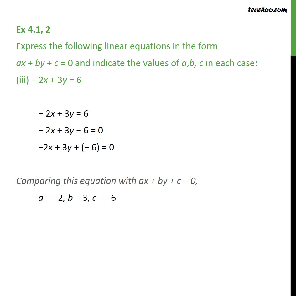 Ex 4.1, 2 - Chapter 4 Class 9 Linear Equations in Two Variables - Part 3