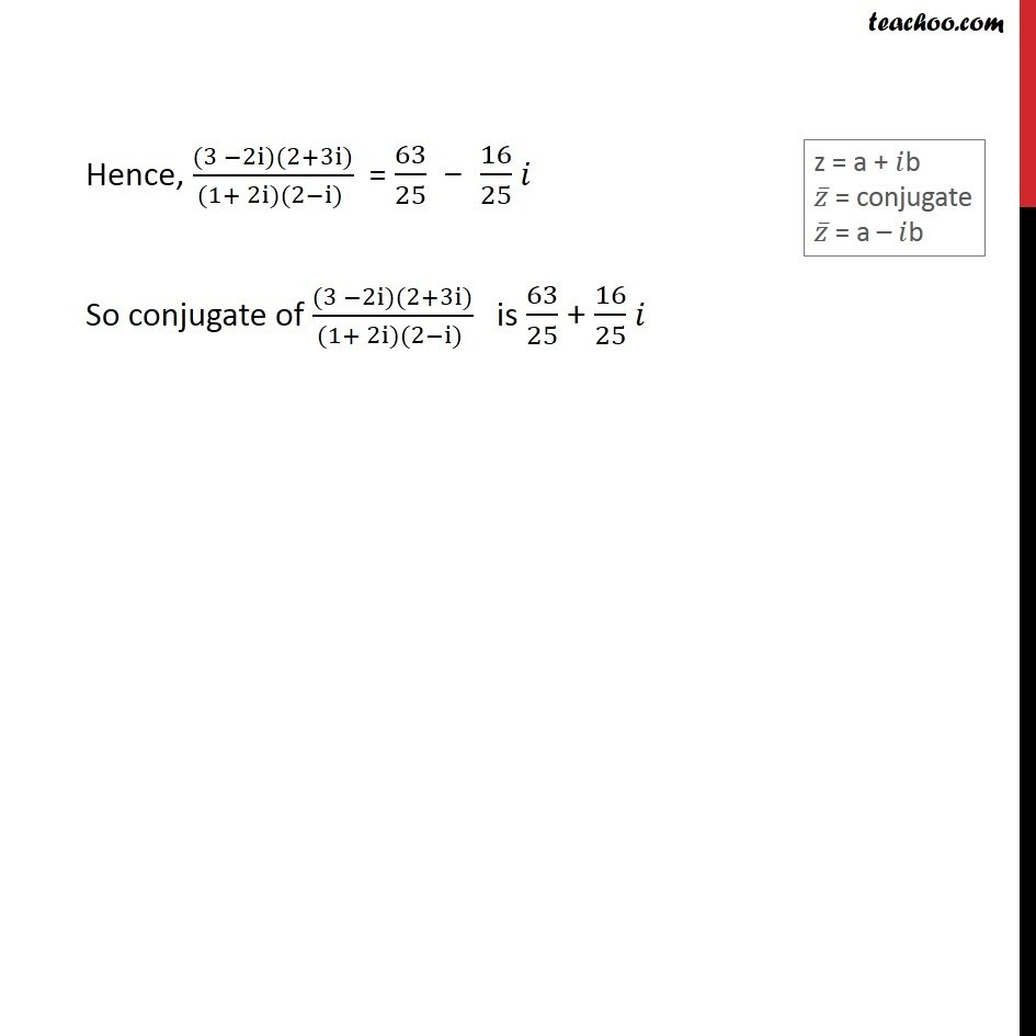 Example 12 - Chapter 5 Class 11 Complex Numbers - Part 4
