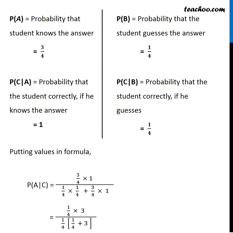 Ex 13.3, 4 - Chapter 13 Class 12 Probability - Part 2