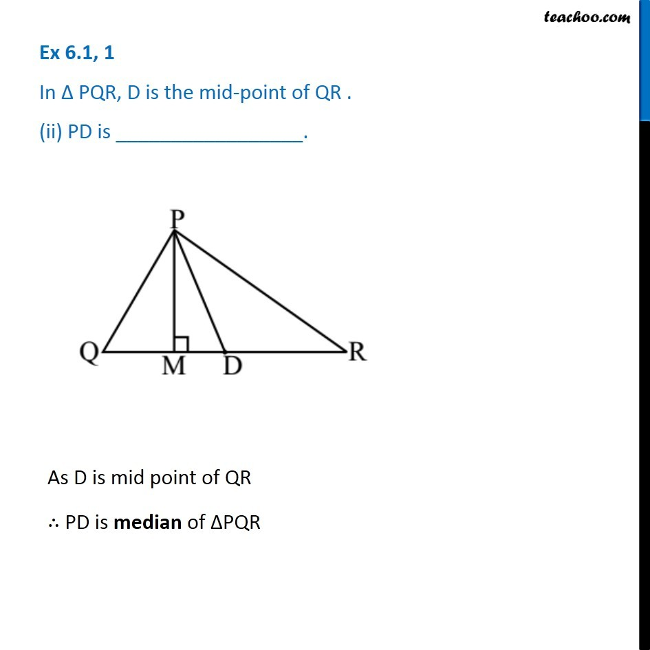 Ex 6.1, 1 - Chapter 6 Class 7 Triangle and its Properties - Part 2