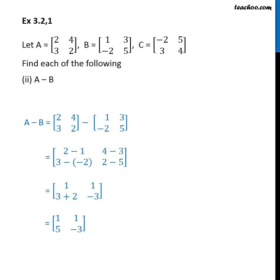 Ex 3.2, 1 - Chapter 3 Class 12 Matrices - Part 2