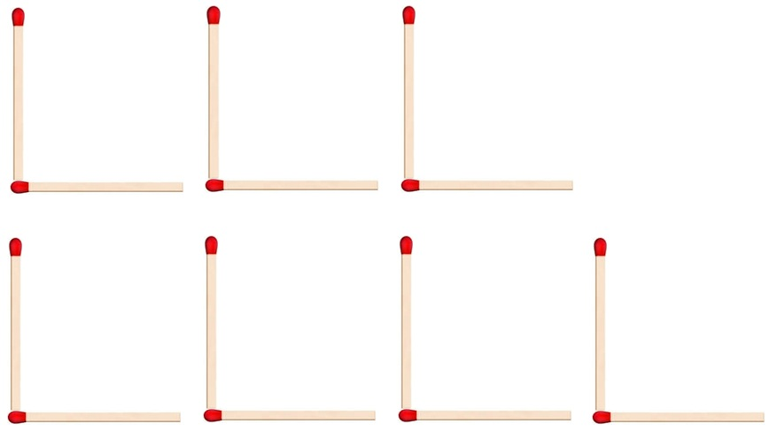 Matchstick pattern - L - Part 3