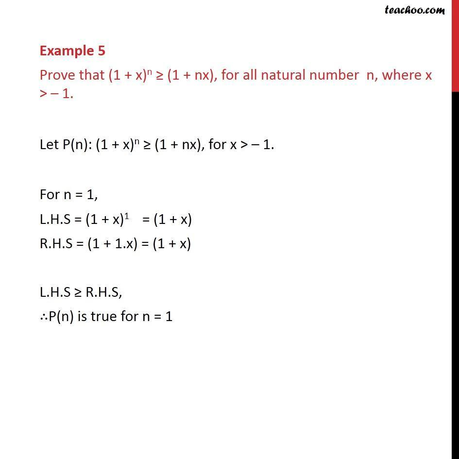 Example 5 - Chapter 4 Class 11 Mathematical Induction - Part 2