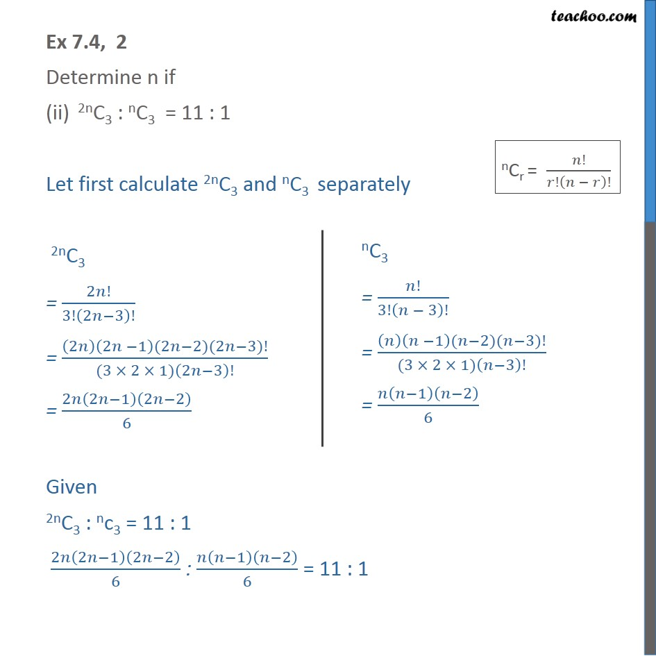 Ex 7.4, 2 - Chapter 7 Class 11 Permutations and Combinations - Part 3
