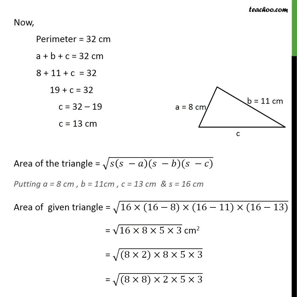 Example 1 - Chapter 12 Class 9 Herons Formula - Part 2