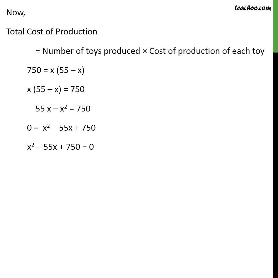 Example 1 - Chapter 4 Class 10 Quadratic Equations - Part 4