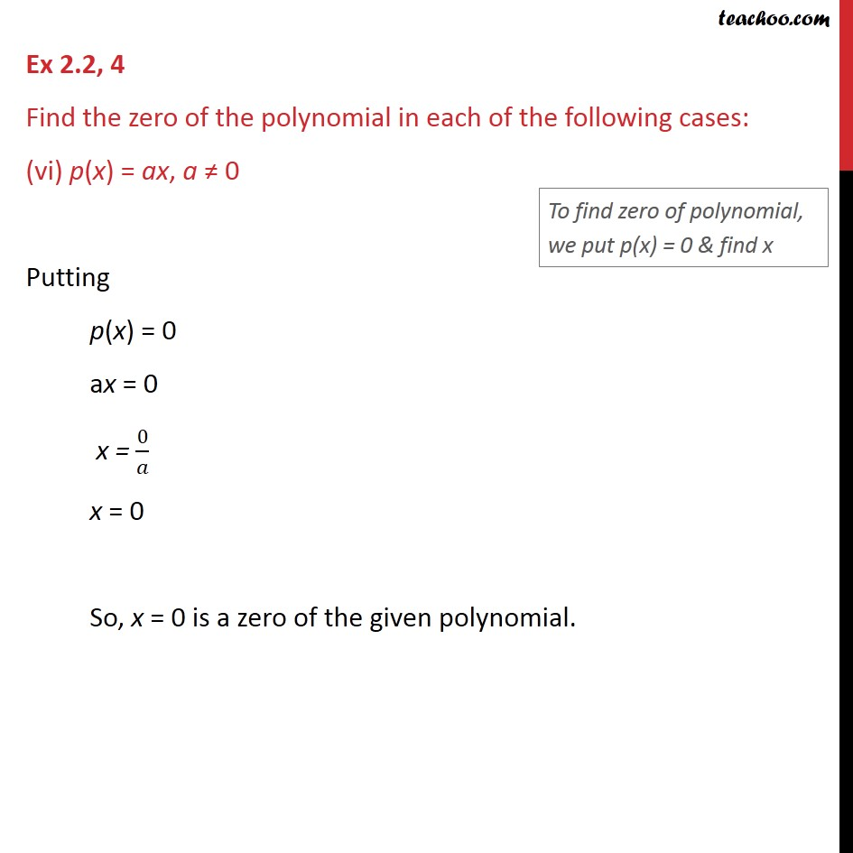 Ex 2.2,4 - Chapter 2 Class 9 Polynomials - Part 6