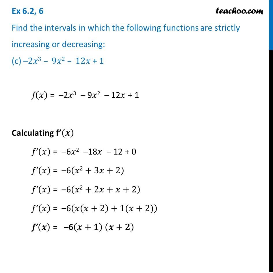 Ex 6.2,6 - Chapter 6 Class 12 Application of Derivatives - Part 5