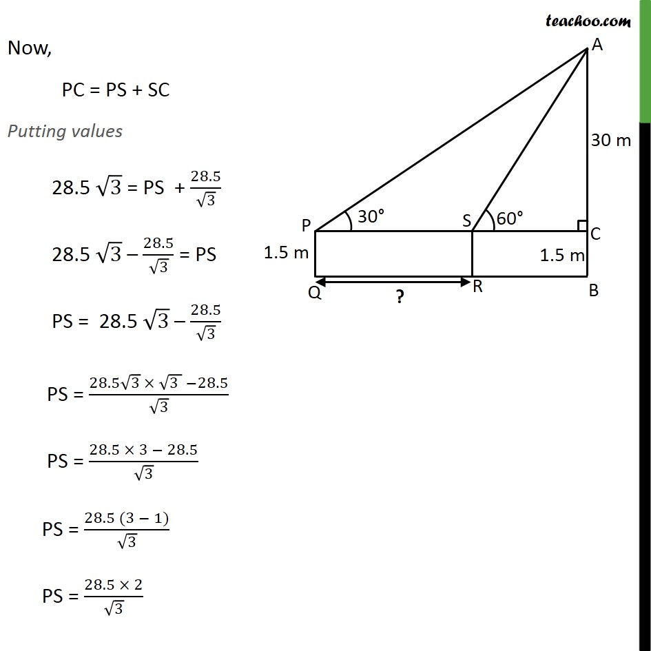 Ex 9.1, 6 - Chapter 9 Class 10 Some Applications of Trigonometry - Part 4