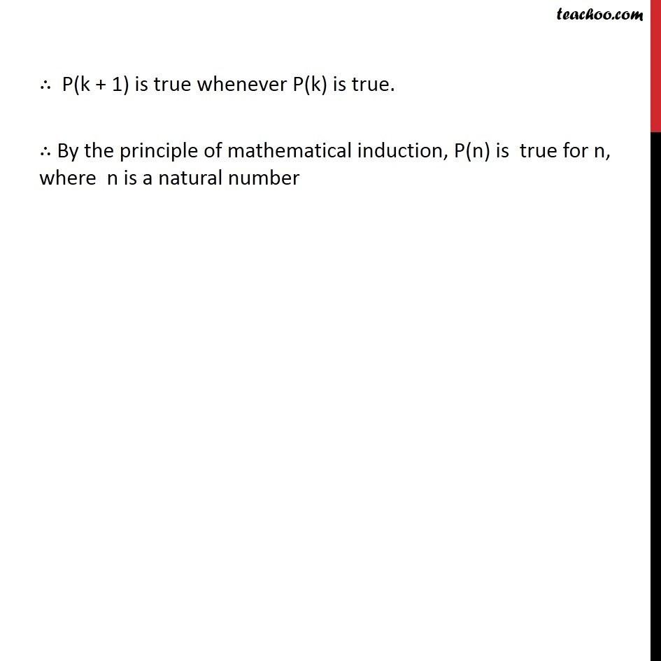 Ex 4.1, 12 - Chapter 4 Class 11 Mathematical Induction - Part 4