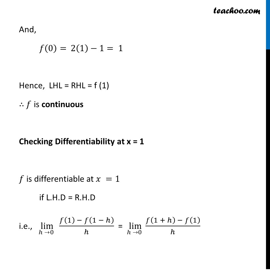 Misc  21 - Chapter 5 Class 12 Continuity and Differentiability - Part 8